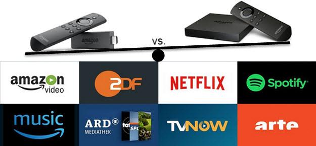 Unterschiede: Amazon Fire TV Stick oder Box im Vergleich