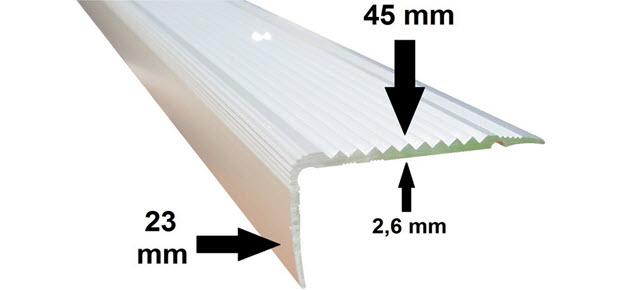 Treppenstufenprofil Winkelleiste Treppenleiste Treppenkantenschutz