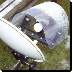 Satellitenschüssel Wetterschutz